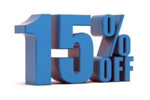 15 percent off web design