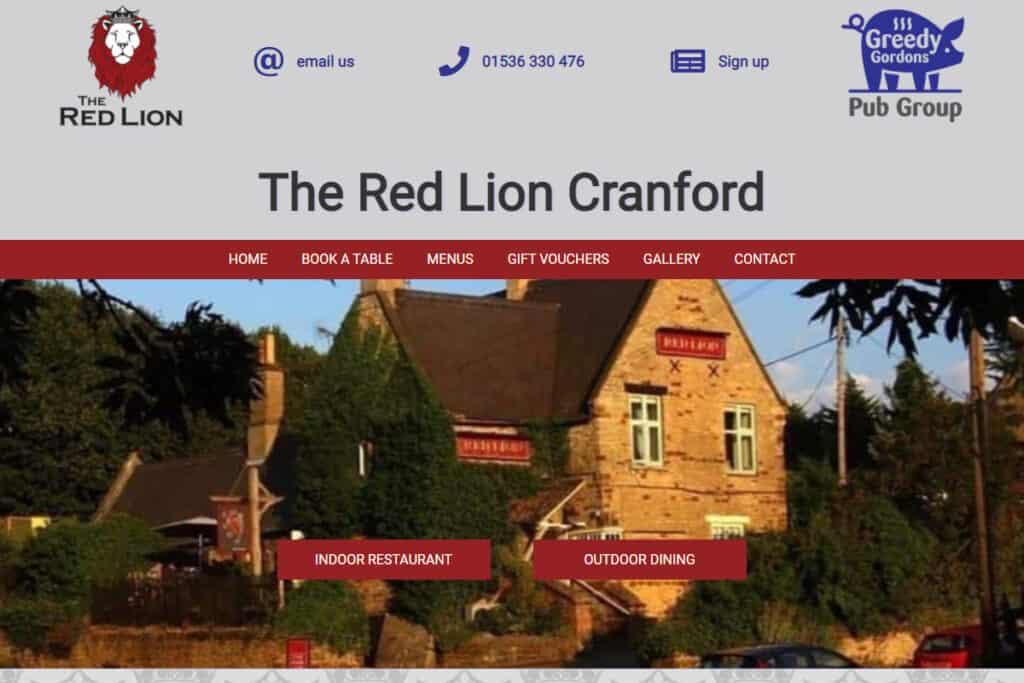 Kettering pub web design