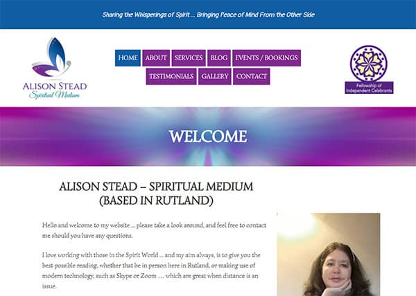 Spiritual Medium web design