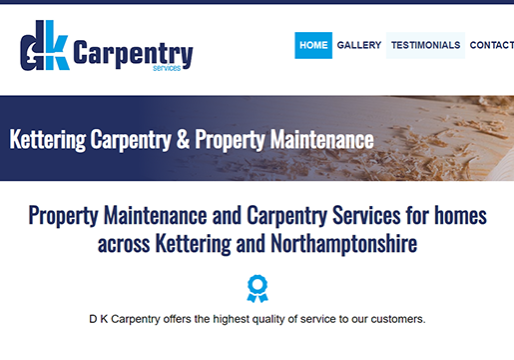 Carpentry Web Design