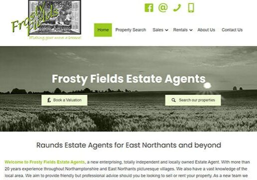 Estate agent web design Raunds