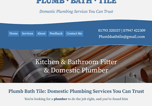 Plumber Web Design Swindon
