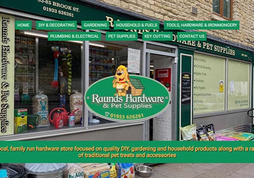 Raunds web design example