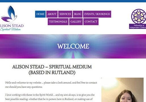 Spiritual Medium web design