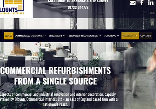 Commercial Interiors company web design