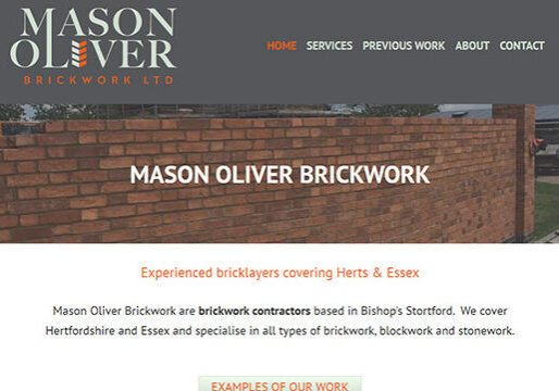 Brickwork contractor web design