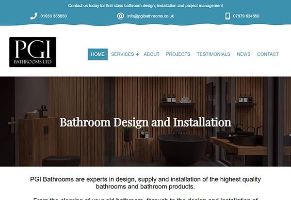 Bathroom installer web design