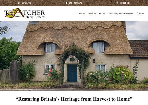 Master Thatcher web design