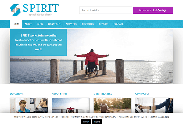 Spinal Injuries Charity Website